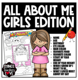 ALL ABOUT ME TEMPLATE (GIRLS) - Tabloid PDF