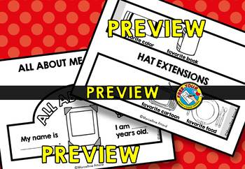 BACK TO SCHOOL ACTIVITIES KINDERGARTEN ALL ABOUT ME CRAFT HAT