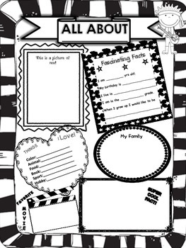ALL ABOUT ME POSTER **ROCKSTAR THEME***