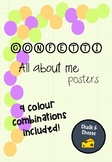 ALL ABOUT ME POSTERS Confetti Theme