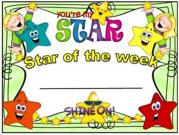 Behavior Management- STAR OF THE WEEK- Year Long Program