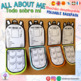 BACK TO SCHOOL- ALL ABOUT ME- TODO SOBRE MI- FOLDABLE BACKPACK- ESP-ING-FR-CAT-