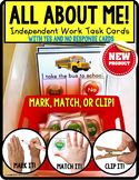 """ALL ABOUT ME Task Cards with YES/NO Responses """"Task Box Fi"""