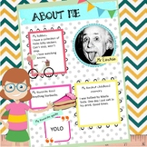 Meet the Teacher - All About Me