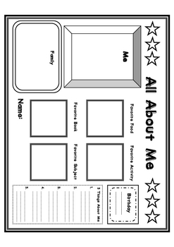 ALL ABOUT ME back to school graphic organizer 1st...