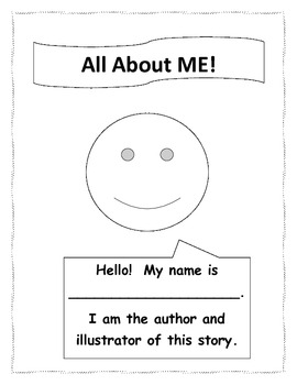 ALL ABOUT ME! book pages