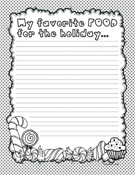All About My Holiday Printable Journal