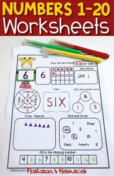 ALL ABOUT Numbers 1-20 +Assessment