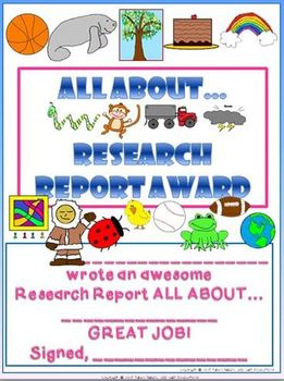 ALL ABOUT... Research Report Writing Templates Common Core Aligned
