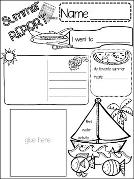 ALL ABOUT SUMMER POSTER {{quick topics}} one interactive worksheet