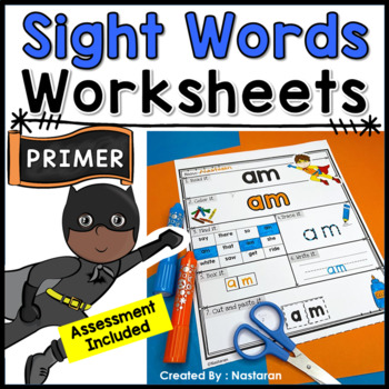 Sight Words Practice Pages  +Assessment {Primer}