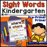 Sight Words Worksheets Kindergarten +Assessment - Sight Word Practice