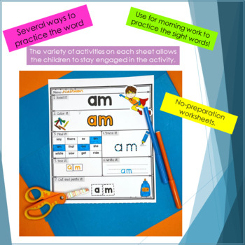 Sight Words Worksheets - Sight Words Kindergarten Worksheets