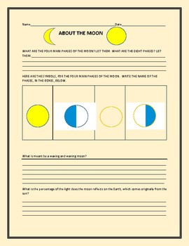THE MOON: A CONTENT KNOWLEDGE ACTIVITY