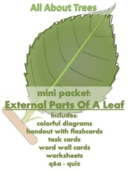 ALL ABOUT TREES  - Mini Packet: External Parts of a Leaf