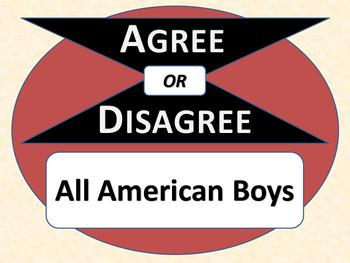 ALL AMERICAN BOYS - Agree or Disagree Pre-reading Activity