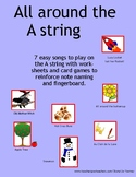 ALL AROUND THE A STRING - the notes, the staff, the finger