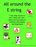ALL AROUND THE E STRING - the notes, the staff, the fingerboard