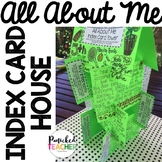 ALL About Me Index Card House