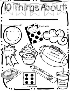 ALL About Me & My Classmates - Back to School class activity