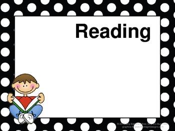 ALL-BLACK POLKA DOTS Daily Learning Targets Bulletin Board Set