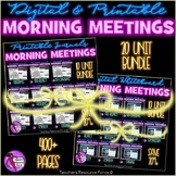 ALL Character Education SEL Morning Meeting Whiteboard & Journal BUNDLE