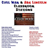 ALL Civil War and Abe Lincoln Classroom Stations