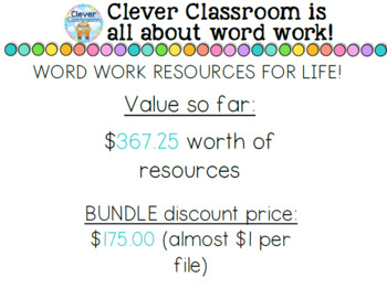 ALL Clever Classroom's Word Work Resources - UPDATED JUNE