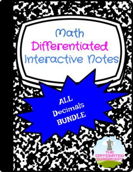 ALL Decimal Operations Differentiated Interactive Notes BUNDLE