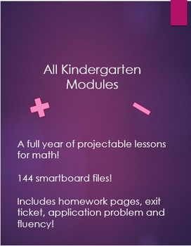 ALL Engage NY Kindergarten Math Modules 1-6