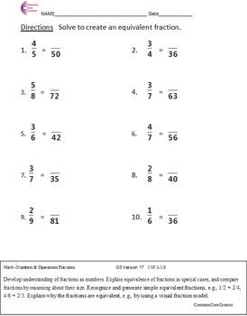 FRACTIONS NF - 3NF, 4NF, 5NF ALL FRACTION STANDARDS  Over 200 Worksheets