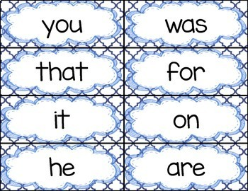 ALL Fry Sight Word Rings/Word Wall Words/Flash Cards BUNDLE