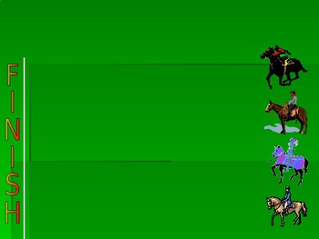 ALL GRADES/SUBJECTS- Horse Race Game! PowerPoint Game