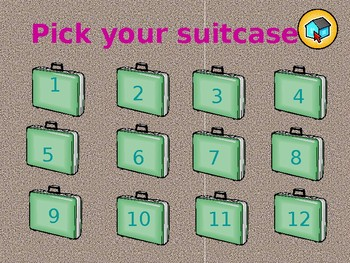ALL GRADES/SUBJECTS- Suitcases of Fun! PowerPoint Game