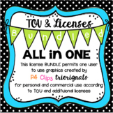 ALL IN ONE BUNDLED TOU and LICENSES (P4 Clips Trioriginals Clip Art)
