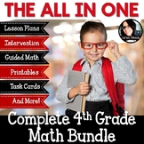 4th Grade Math Bundle Lesson Plans, Printables, Guided Math, Intervention & More