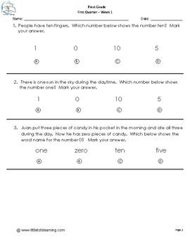 1st Grade Math Printables {Common Core Aligned}