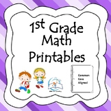 1st Grade Math Printables {Common Core Aligned}