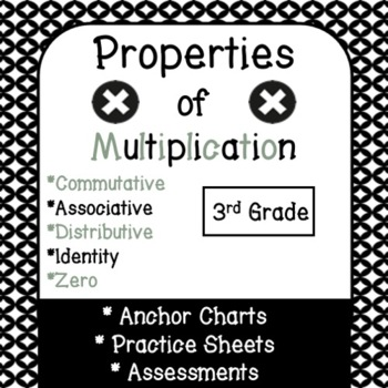 Properties of Multiplication Anchor Charts, Worksheets, and Assessments!