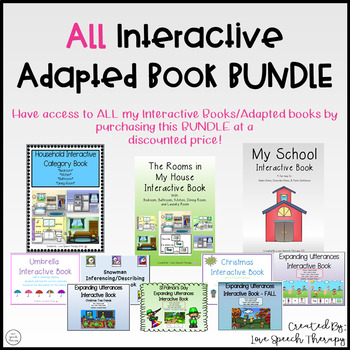 ALL Interactive/Adapted Books Bundle Package