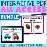 Interactive PDFs Digital Activities BIG BUNDLE | Distance