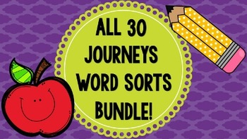 ALL Journeys Word Sorts BUNDLE! (Lessons 1-30)