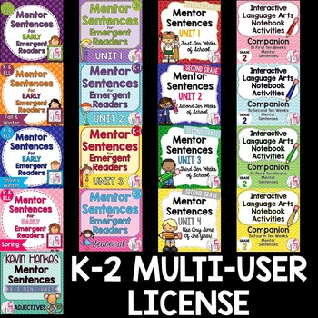 ALL K-2 Mentor Sentence Curriculum: SPECIAL MULTI-USER LICENSE