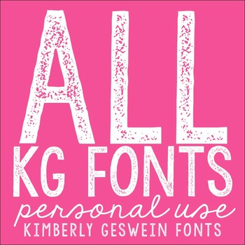 ALL Kimberly Geswein Fonts in One Big    by Kimberly Geswein