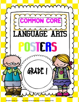 LANGUAGE ARTS COMMON CORE STANDARD POSTERS grade 1
