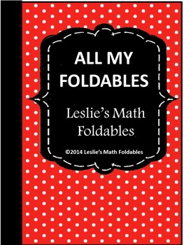 ALL My Math Foldables