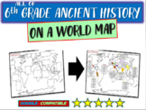 ALL OF 6TH GRADE HISTORY ON A MAP Activity: follow-along 40-slide PPT & handouts