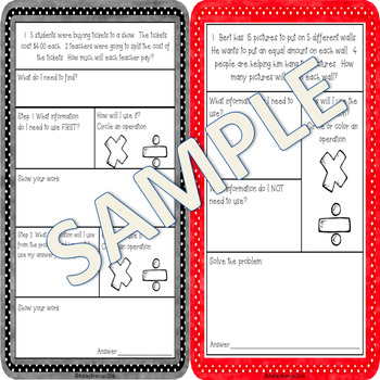 ALL OPERATIONS Single and Multi Step Word Problems w/ Graphic Organizers BUNDLE