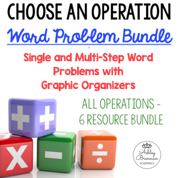 ALL OPERATIONS Single and Multi Step Word Problems w/ Grap