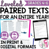 ALL Grades 4-8 Paired Texts / Paired Passages Bundle - Updates For Life!
